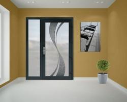 Fen'Azur - Chavelot - Porte d'Entrée PVC Gris Anthracite