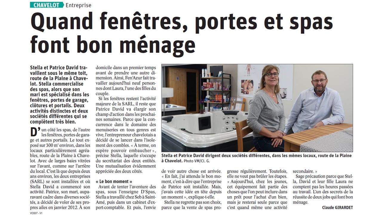 Article de presse sur Fen'Azur
